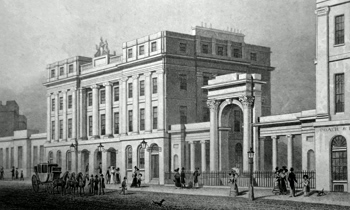 ANTIQUE PRINT: NEW POST OFFICE, WATERLOO PLACE, EDINBURGH.