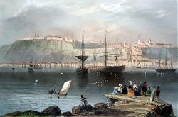 Antique print of Quebec, Canada