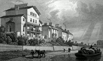 ANTIQUE PRINT: PARK VILLAGE EAST, REGENT'S PARK.