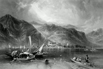 ANTIQUE PRINT: BREGENZ.