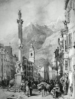 ANTIQUE PRINT: INNSBRUCK.