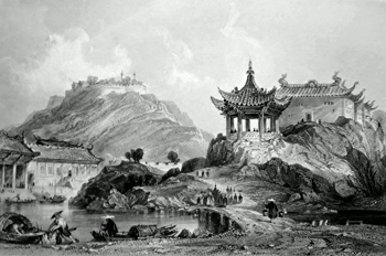ANTIQUE PRINT: THE FORTRESS OF TERROR, TING-HAI [ZHOUSHAN].