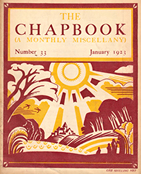 MONRO, Harold (Harold Edward), 1879-1932 – editor : THE CHAPBOOK (A MONTHLY MISCELLANY). NUMBER 33 : JANUARY 1923.