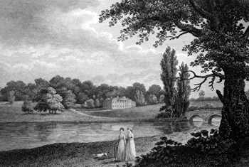 ANTIQUE PRINT: BENHAM, BERKSHIRE.