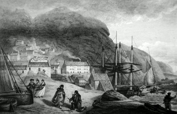 Antique print of Barmouth