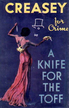 CREASEY, John, 1908-1973 : A KNIFE FOR THE TOFF.