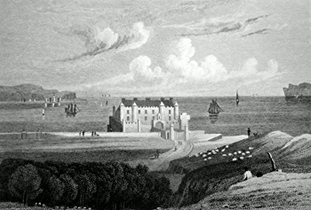 ANTIQUE PRINT: THURSO CASTLE. CAITHNESS.