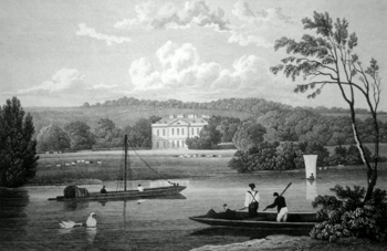 ANTIQUE PRINT: FAWLEY COURT, BUCKINGHAMSHIRE.