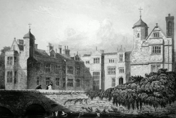 Antique print of Suffolk