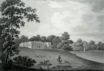 ANTIQUE PRINT: MARBURY HALL. PRESENTED TO THIS WORK BY JOHN SMITH BARRY, ESQR.