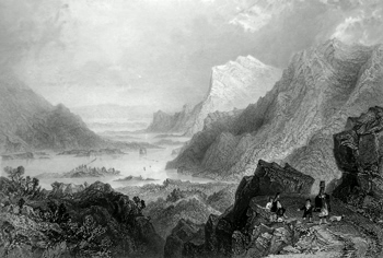 ANTIQUE PRINT: APPROACH TO KILLARNEY FROM THE KENMARE ROAD.