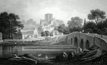 ANTIQUE PRINT: ST. ASAPH. FLINTSHIRE.