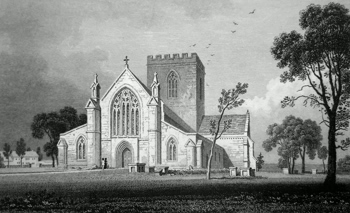 ANTIQUE PRINT: ST. ASAPH CATHEDRAL. FLINTSHIRE.