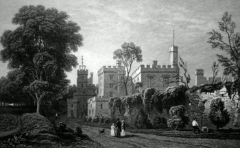 ANTIQUE PRINT: RUTHIN CASTLE, DENBIGHSHIRE.