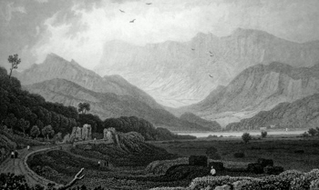 ANTIQUE PRINT: CADER IDRIS, THREE MILES FROM BARMOUTH. MERIONETHSHIRE.