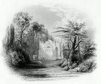 ANTIQUE PRINT: MAUSOLEUM AT FROGMORE.