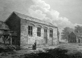 ANTIQUE PRINT: THE ABBOT'S HALL, INCE.