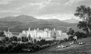 ANTIQUE PRINT: ST. DAVID'S COLLEGE, LAMPETER, CARDIGANSHIRE.