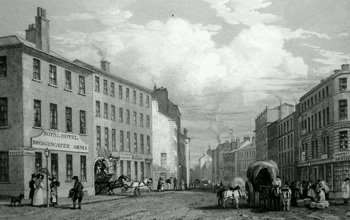 ANTIQUE PRINT: MARKET STREET, FROM PICCADILLY, MANCHESTER.
