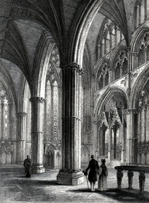 ANTIQUE PRINT: LINCOLN CATHEDRAL. THE CHANCEL.