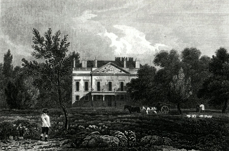 ANTIQUE PRINT: WHITTON, MIDDLESEX, THE SEAT OF GEORGE GOSTLING ESQR.
