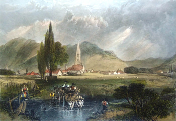 ANTIQUE PRINT: FREIBURG.