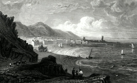 ANTIQUE PRINT: ABERYSTWITH, CARDIGANSHIRE.