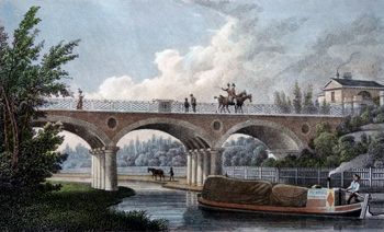 ANTIQUE PRINT: MACCLESFIELD BRIDGE, REGENT'S PARK.