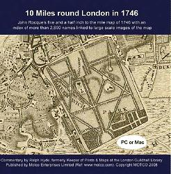 Old Map of London on CD for Reference