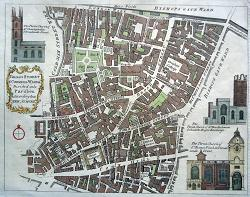 Antique map of the City of London