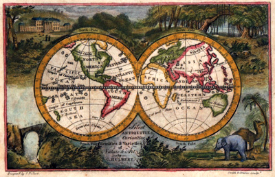 ANTIQUE MAP: [THE WORLD].