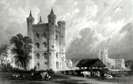 ANTIQUE PRINT: TATTERSHALL CASTLE, LINCOLNSHIRE.