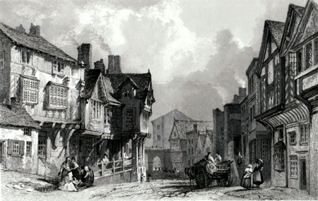 Antique print of  Cheshire