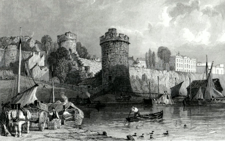 ANTIQUE PRINT: WATER TOWER, FROM THE DEE BASIN, CHESTER.