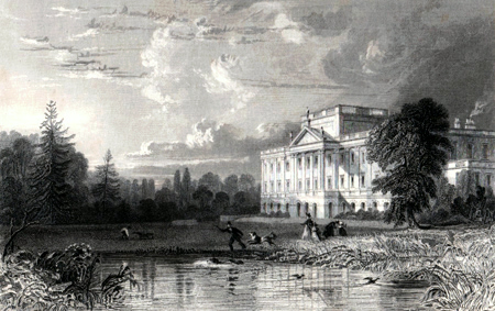 ANTIQUE PRINT: LYME HALL, CHESHIRE.