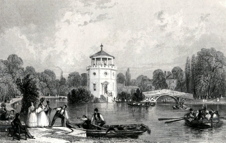 ANTIQUE PRINT: RADFORD FOLLY, NEAR NOTTINGHAM.