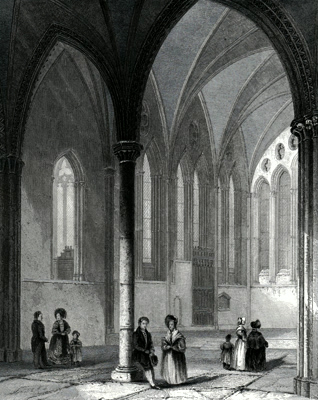 ANTIQUE PRINT: HEREFORD CATHEDRAL. THE LADY CHAPEL.