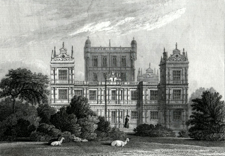 ANTIQUE PRINT: WOLLATON HALL, NOTTINGHAMSHIRE. THE SEAT OF LORD MIDDLETON.