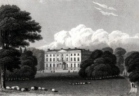 ANTIQUE PRINT: SERLBY HALL, NOTTINGHAMSHIRE.