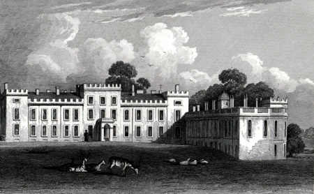 ANTIQUE PRINT: WELBECK ABBEY. NOTTINGHAMSHIRE.