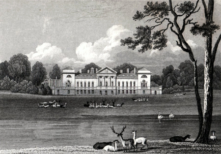 ANTIQUE PRINT: WOBURN ABBEY, BEDFORDSHIRE.