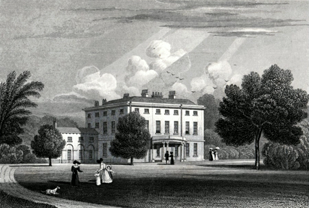 ANTIQUE PRINT: HOLME PARK, BERKSHIRE.