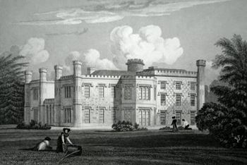 ANTIQUE PRINT: SHOTTESBROOKE HOUSE, BERKSHIRE.