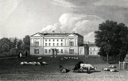 ANTIQUE PRINT: MOSELEY HALL. WORCESTERSHIRE.