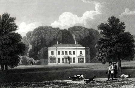 ANTIQUE PRINT: SUNNING-HILL PARK. BERKSHIRE.