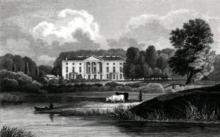 Antique print of Berkshire