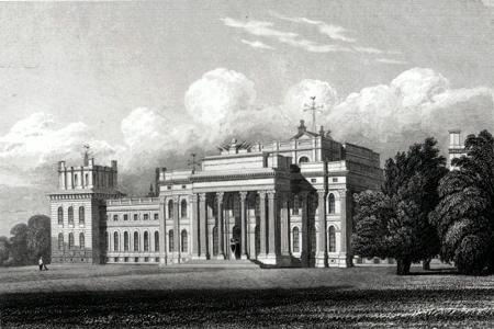 ANTIQUE PRINT: BLENHEIM, SOUTH EAST VIEW. OXFORDSHIRE.