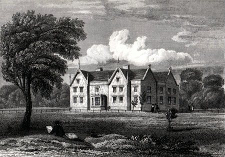 ANTIQUE PRINT: SOMERFORD BOOTHS HALL, CHESHIRE.