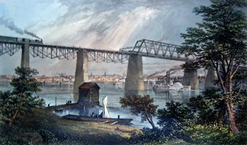 Antique print of Louisville, Kentucky