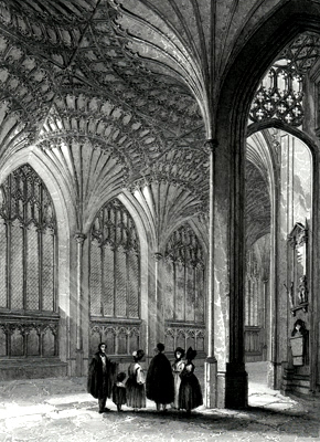 ANTIQUE PRINT: PETERBOROUGH CATHEDRAL. THE LADY CHAPEL.